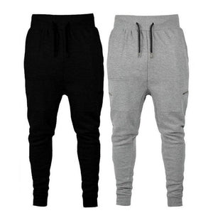 MilkySkinForever Men Casual Zippered Sweatpants Jogger Sport Trousers Drawstring Hip-hop Pants