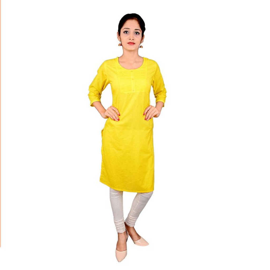 Stylish Cotton Solid Women Kurtis