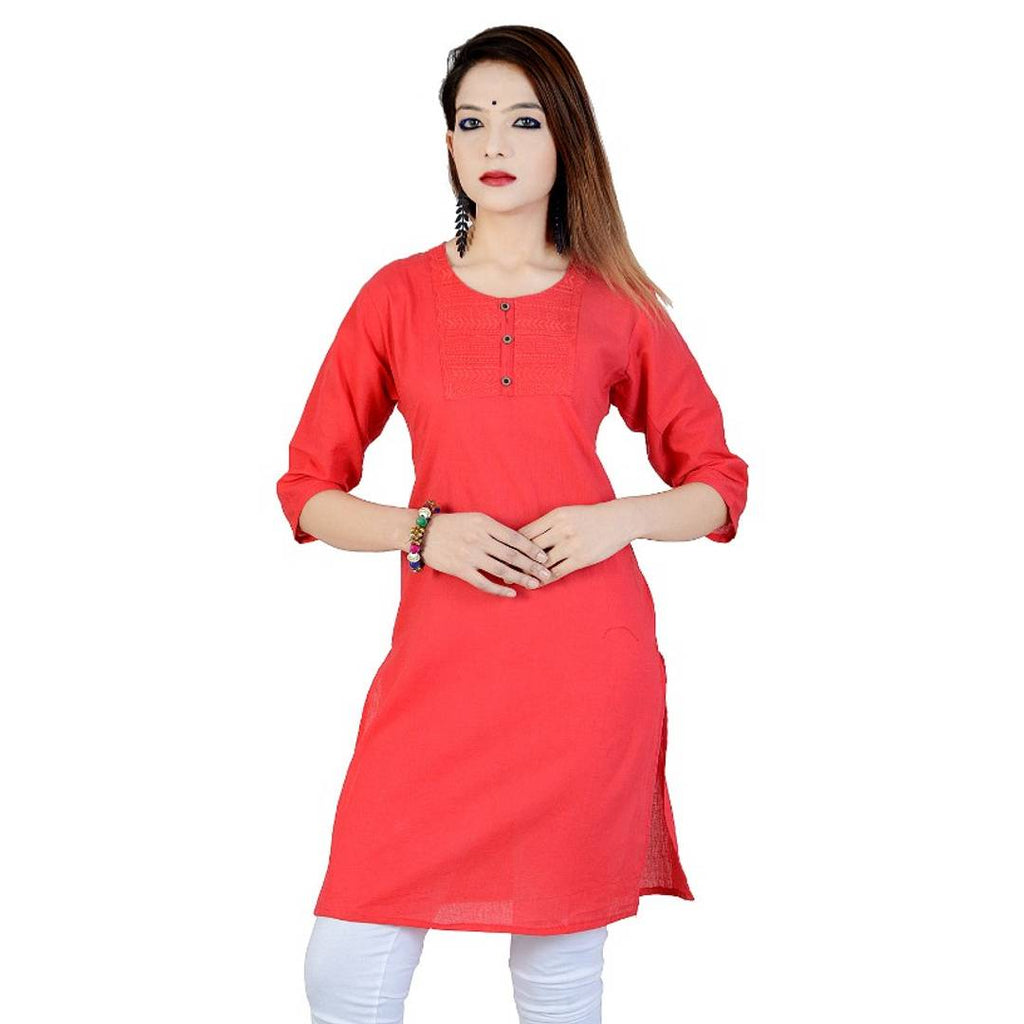 Women Kurtis Simple And Straight Design