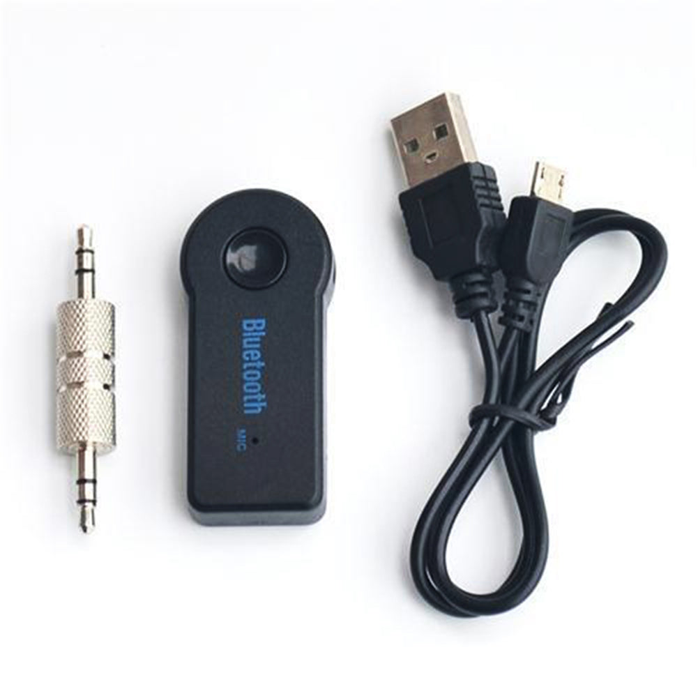MilkySkinForever Wireless Car Bluetooth Receiver with Mic Hands-free Calling Audio Music Adapter