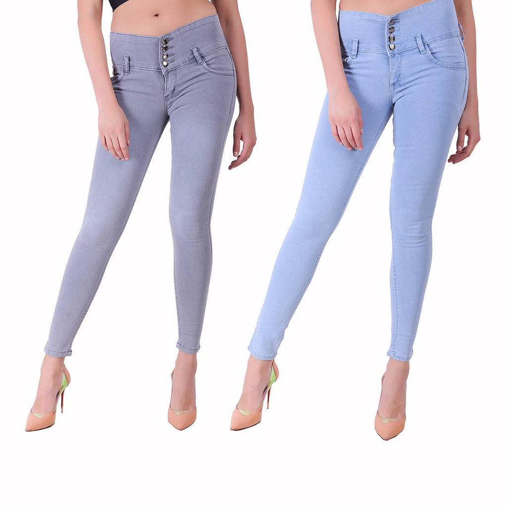 Combo Of 2 High Waist Denim Jeans
