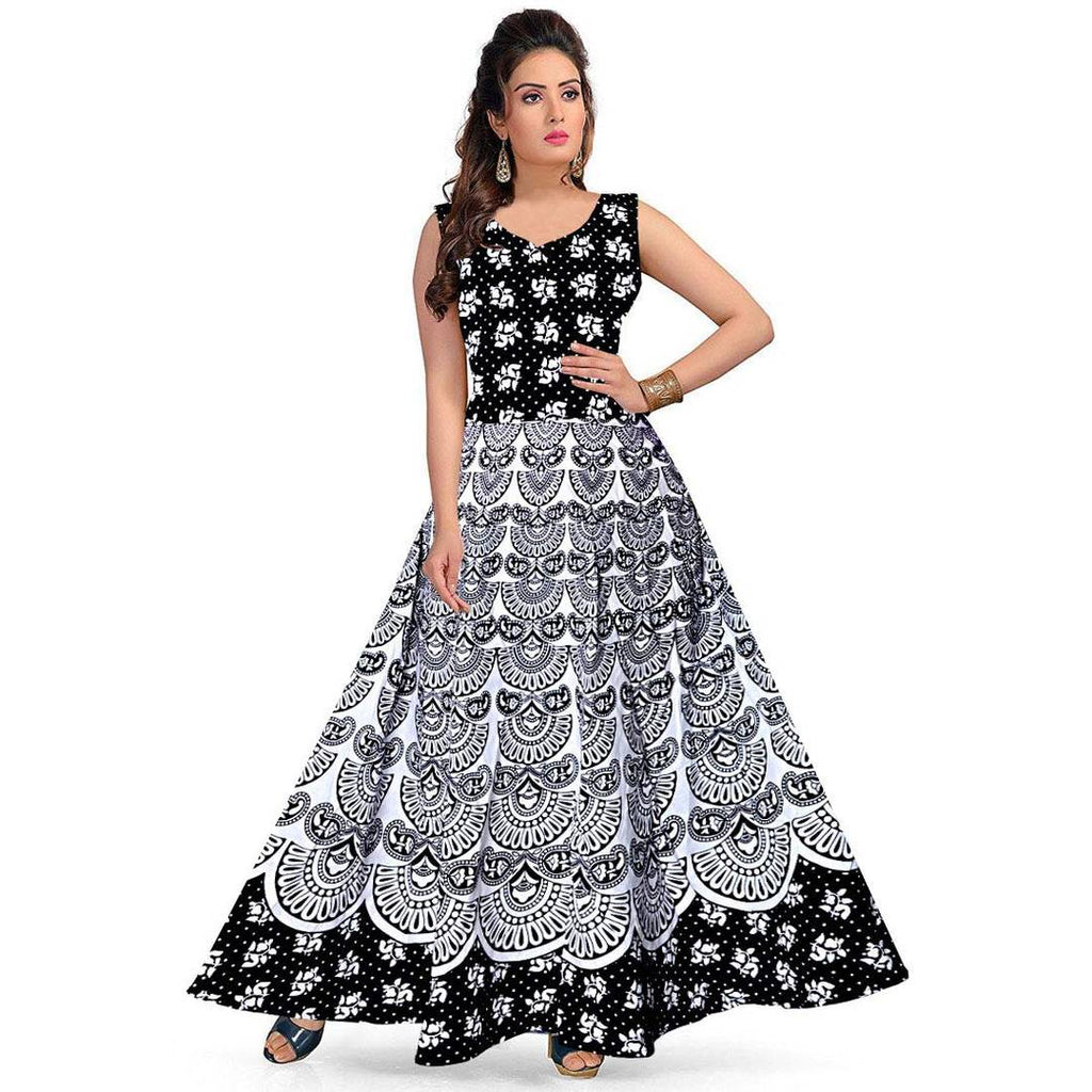 Women's Printed Cotton Gown