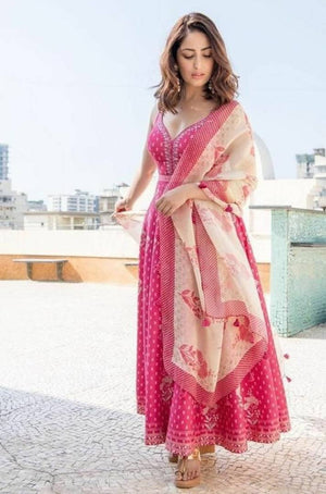 Women's Embroidered Anarkali Style Gown