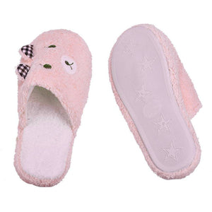 MilkySkinForever Women Lovely Bear Pattern Soft Sole Cotton-padded Slippers Winter Indoor Shoes