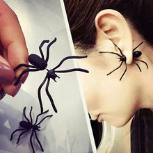 Load image into Gallery viewer, MilkySkinForever Boy Girl 1 Pc Funny Weird Big Black Spider Ear Stud Punk Style Earring Jewelry