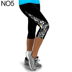 MilkySkinForever Women Fashion Triangle Paneled Slimming Pants Leggings Running Yoga Sport Gym Pants