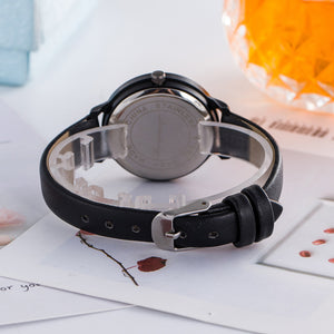 MilkySkinForever Fashion Women Faux Leather Band Quartz Analog Display Student Wrist Watch Gift