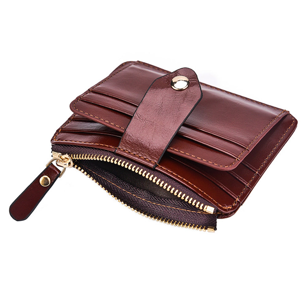 MilkySkinForever Retro Men Faux Leather Short Wallet Cash Card Organizer Mini Coin Purse Holder