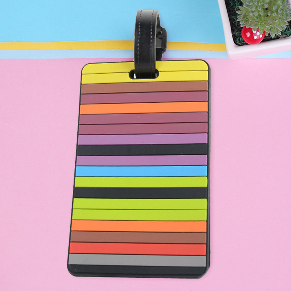 MilkySkinForever Colorful PVC Luggage Tag Travel Suitcase Name Address Label Baggage Identifier