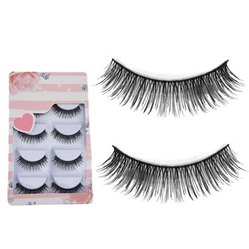 MilkySkinForever 5 Pairs Long Thick Cross Makeup Soft  Eye Lashes Extension Beauty False Eyelashes