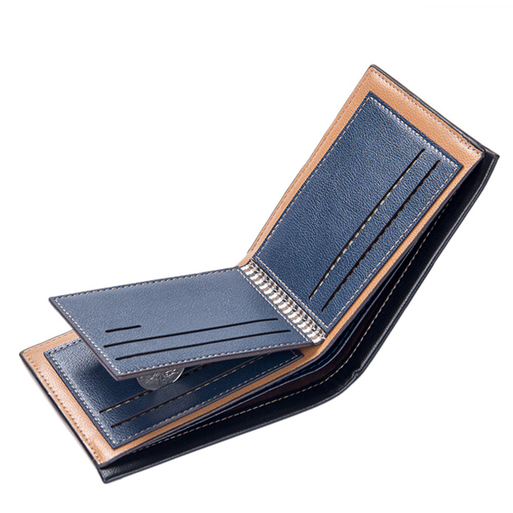 MilkySkinForever Fashion Men Faux Leather Thin Card Holder Purse Business Short Wallet Gift