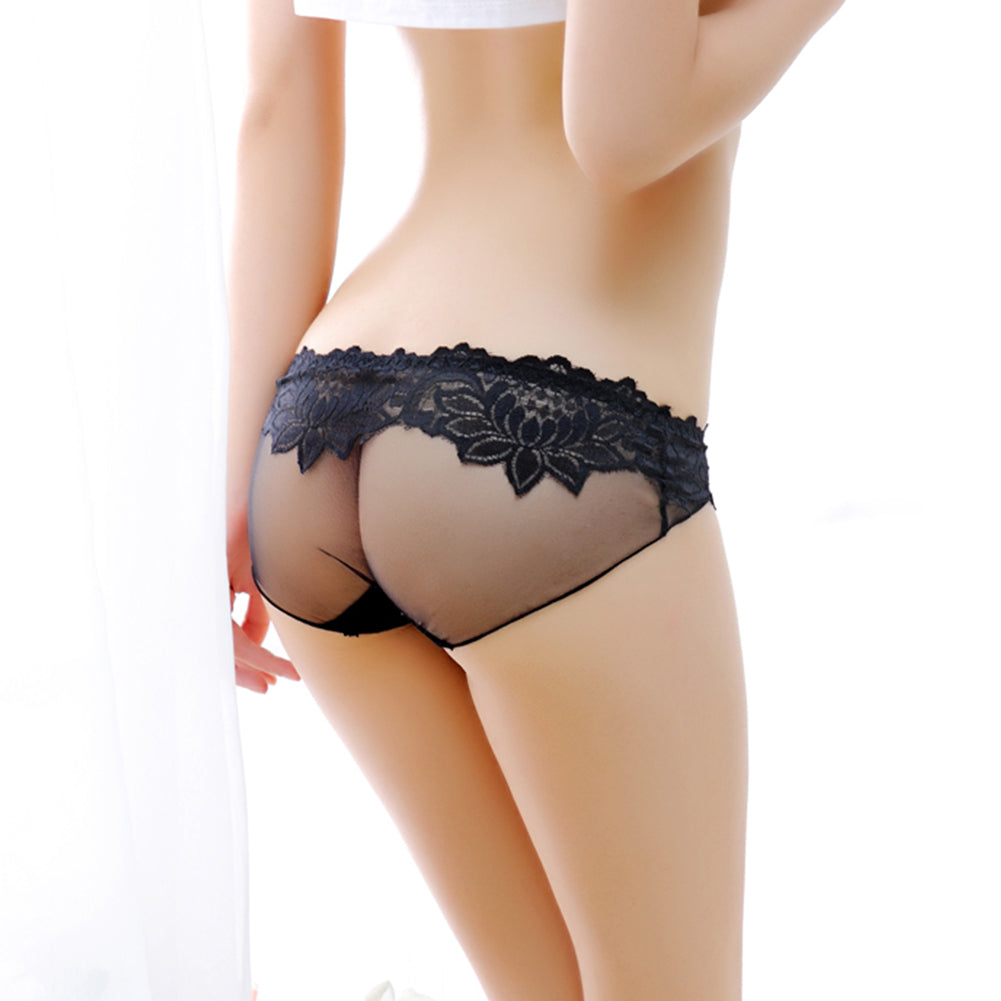 MilkySkinForever Fashion Sexy Lace See Through Women Low Rise Briefs Underwear Panties Gift
