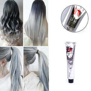 MilkySkinForever Fashion Men Women 100ml Permanent Natural Light Gray Color Granny Hair Dye Cream