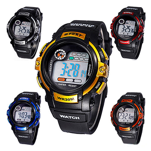 MilkySkinForever Men's Boy's Chic Sports Multifunction Luminous Calendar Alarm Date Wrist Watch