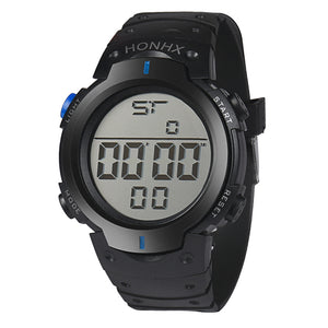 MilkySkinForever Men's Casual Sports Water Resistant LED Backlight Date Digital Wrist Watch