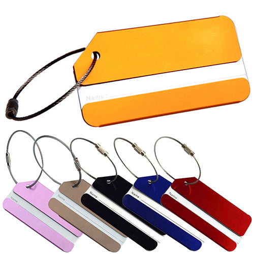 MilkySkinForever Luggage Bag Tag Address Holder Secure ID Label Travel Aluminum Alloy With Ring