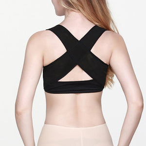 MilkySkinForever Women Chest Brace Support Belt Band Posture Corrector X Type Back Shoulder Vest