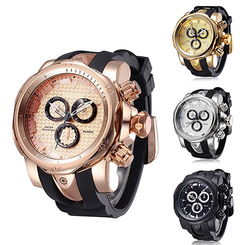 MilkySkinForever Fashion Casual Sport Cool Silicone Strap Military Luxury Quartz Wrist Watch