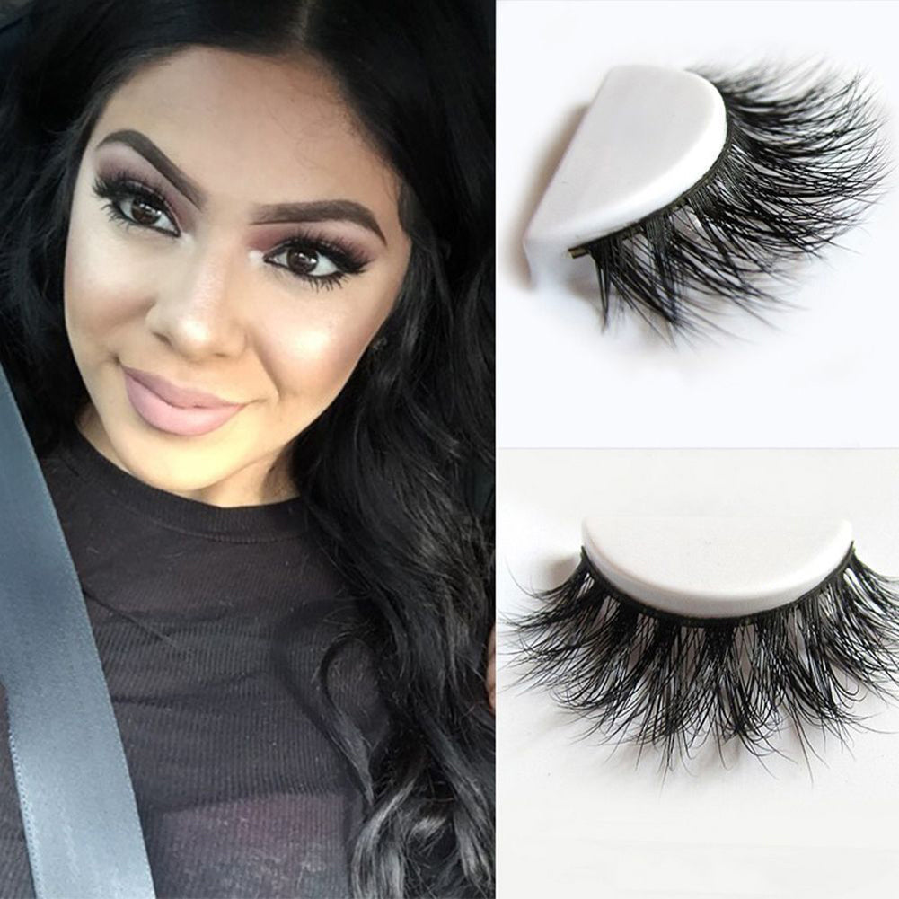 MilkySkinForever Soft Faux Mink Hair Long Thick Cross Eye Lashes Extension Fake False Eyelashes