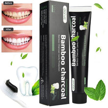 Load image into Gallery viewer, MilkySkinForever 120g Whitening Toothpaste Bamboo Charcoal Teeth Care Black Removes Stains