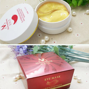 MilkySkinForever 60Pcs/Box Shea Butter Moisturizing Anti-Puffiness Firming Eye Mask Skin Care