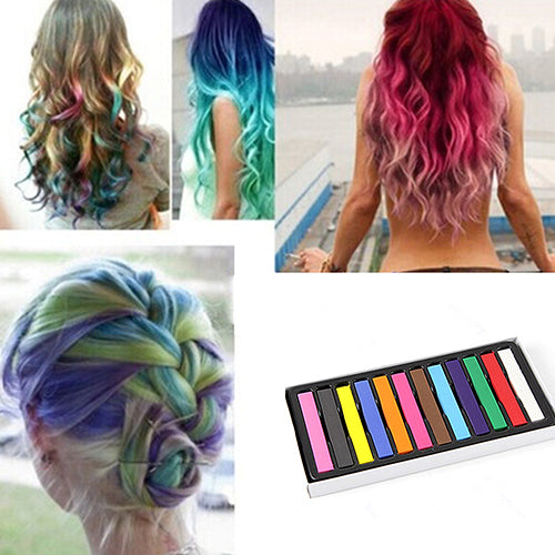 MilkySkinForever 12 Colors Fast Temporary Pastel Hair DIY Salon Painting Extension Dye Chalk