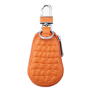 MilkySkinForever Classic Micro Leather Crocodiles Grain Car Remote Key Protective Case Key Bag