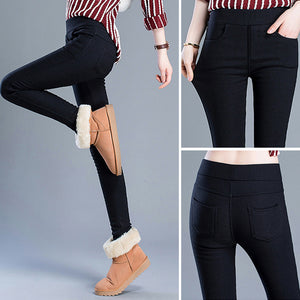 MilkySkinForever Fashion Women's Stretchy Pants Slim Fit Skinny Pencil Leggings Long Trousers