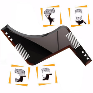 MilkySkinForever Fashion Beard Shaper Men's Shaping Comb Tool for Perfect Lines Cut Templates