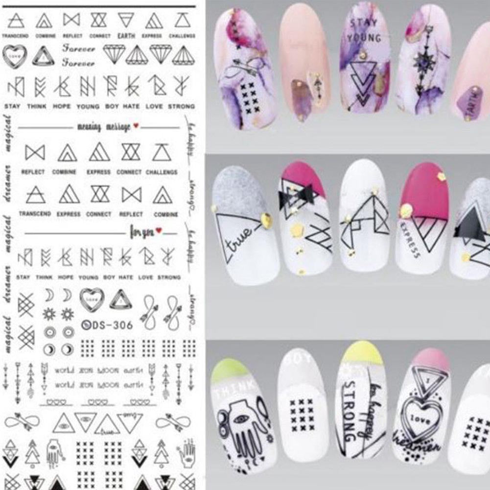 MilkySkinForever Multi-pattern Nail Art Water Transfer Stickers Manicure Tip Decal DIY Decor Tool