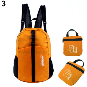 MilkySkinForever Waterproof Nylon Foldable Backpac Rucksack for Outdoor Sports Hiking Camping