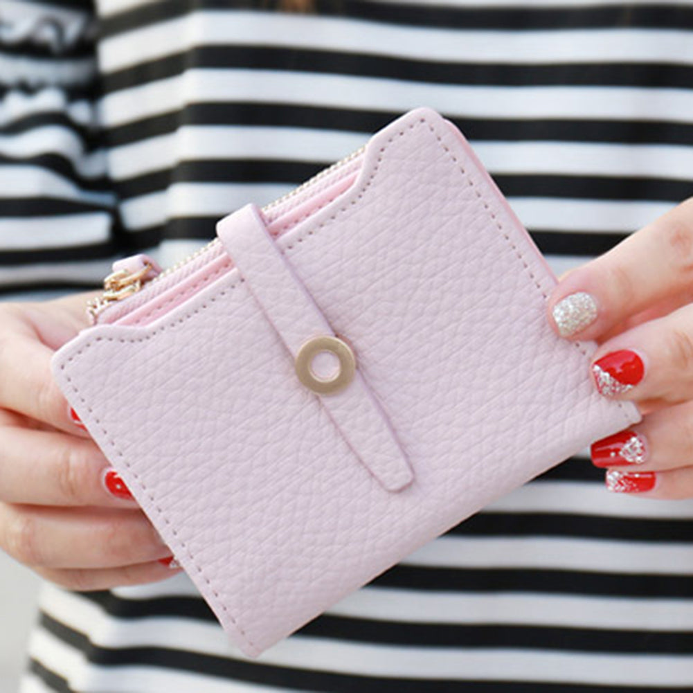MilkySkinForever Women Fashion Faux Leather Bifold Coin Purse Card Holder Short Wallet Xmas Gift