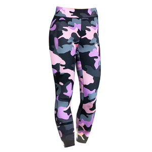 MilkySkinForever Women Camouflage Print Sport Yoga Workout Gym Running Fitness Pants Leggings