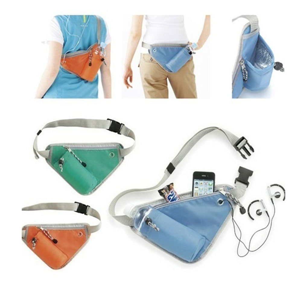 MilkySkinForever Sport Bag Mobile Phone Key Money Holder Fitness Running Belt Triangle Fanny Pack