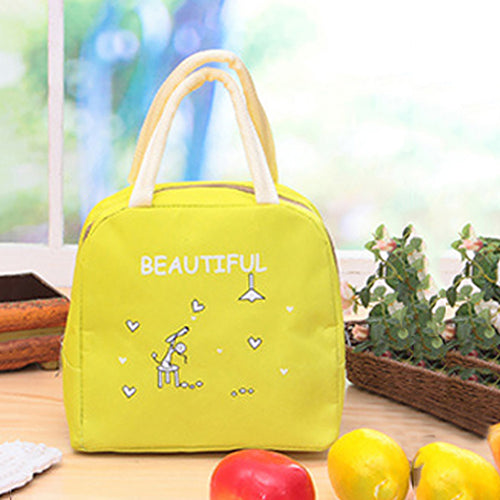 MilkySkinForever Portable Cute Cartoon Thermal Insulated Food Fruit Storage Case Pouch Lunch Box