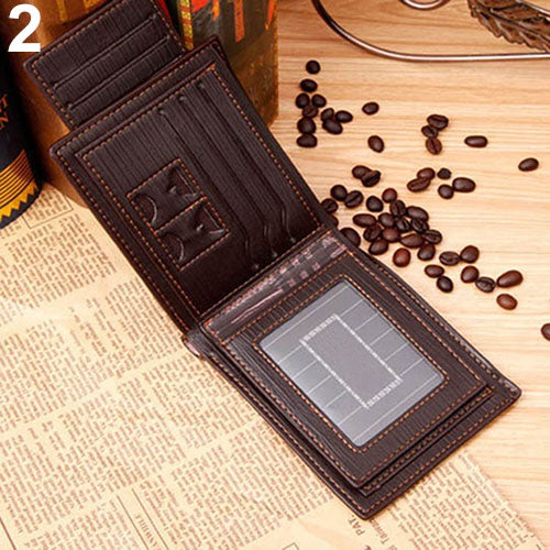MilkySkinForever Men Fashion Faux Leather Business Casual Bifold Credit Card Slots Wallet Purse