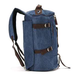MilkySkinForever Men Vintage Canvas Backpack Camping Gym Zip Luggage Sports Travel Crossbody Bag
