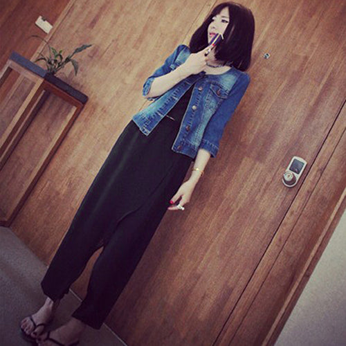 MilkySkinForever Women Ladies Chiffon Jointing Herem Pants Yoga Casual Baggy Loose Summer Trousers