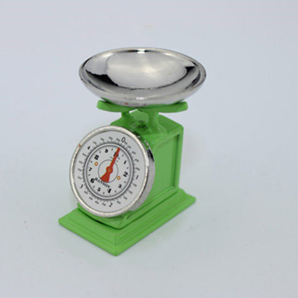 MilkySkinForever Toy Alloy Miniature Weighing Fruit Vegetable Scale Dollhouse Accessories Decor