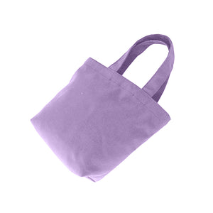MilkySkinForever Solid Color Portable Canvas Lunch Cosmetics Storage Bag Women Clutch Handbag