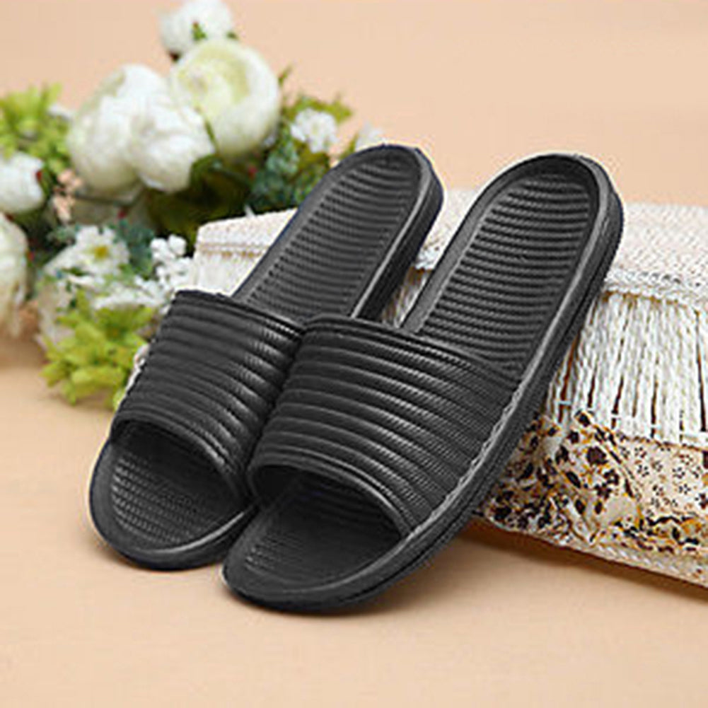 MilkySkinForever Solid Color Slip On Sandals Anti-slip Slippers Men's Flip Flop Shower Shoes