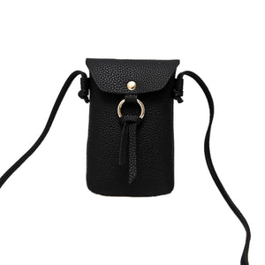 MilkySkinForever Mini Crossbody Shoulder Bag Phone Pouch Plain Faux Leather Women Coin Purse