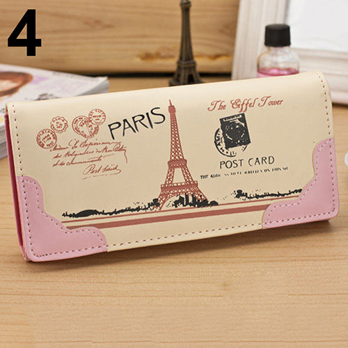 MilkySkinForever Fashion Lady Women Clutch Long Purse Faux Leather Wallet Card Holder Handbag Bag