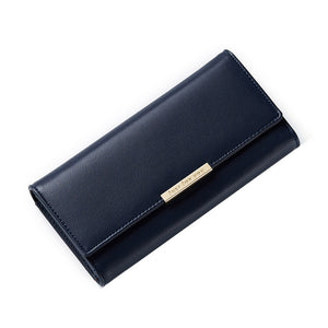 MilkySkinForever Fashion Faux Leather Women's Coin Purse Card Holder Long Buckle Wallet Gifts