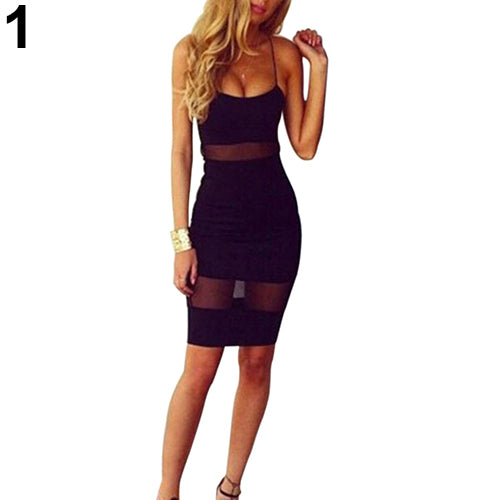 MilkySkinForever Sexy Women Summer Bandage Bodycon Mesh Evening Party Cocktail Short Mini Dress