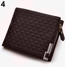 Load image into Gallery viewer, MilkySkinForever Men Faux Leather Zip Bifold Wallet Money Clip Card Holder Pocket Clutch Purse