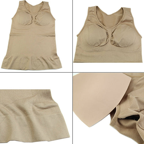 MilkySkinForever Women Slimming Tummy Control Breast Lift Built-in Bra Tank Top Shaper Shapewear