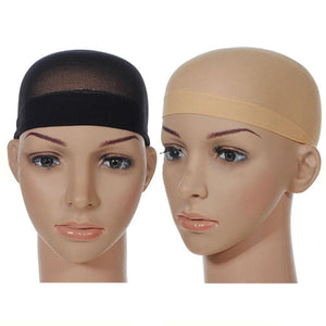 MilkySkinForever 1Pc Men Women Stocking Wig Liner Cap Snood Nylon Stretch Mesh Hollow Hat