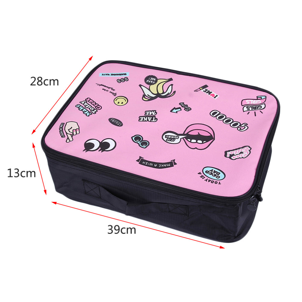 MilkySkinForever Lovely Cartoon Big Mouth Pattern Handbag Outdoor Tote Storage Bag Boarding Pouch