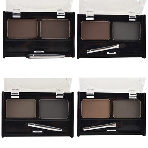 MilkySkinForever 2 Colors Natural Eyebrow Powder Cosmetic Brush Eyebrow Cake Makeup Palette Set